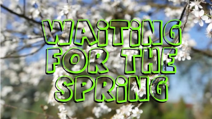 Waiting For The Spring Digitalt display (16:9) template