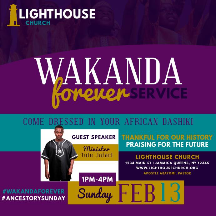 Wakanda Forever Service