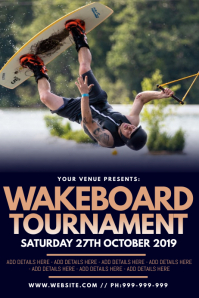 Wakeboard Tournament Poster