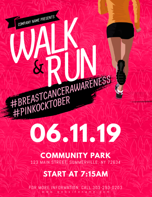 Walk & Run Flyer template