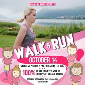 Walk-a-thon Breast Cancer Awareness Square Video