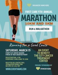 Marathon Flyer Template