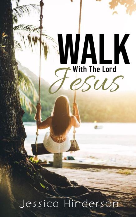 Walk With The Lord Jesus Portada de Kindle template