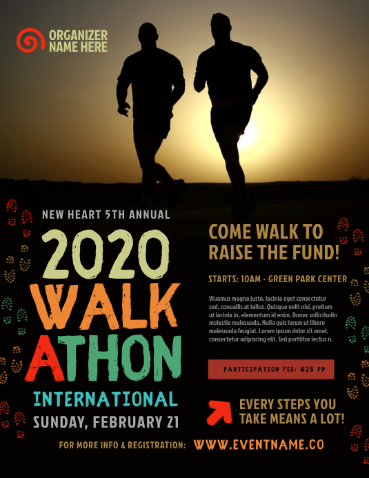 Walkathon Event Flyer Template