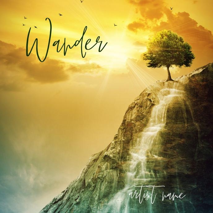 Wander album art template