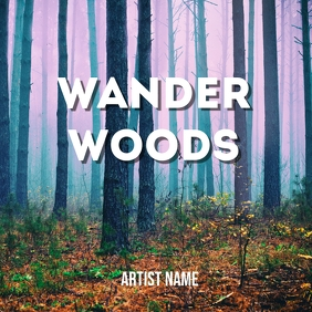 Wander woods album art template