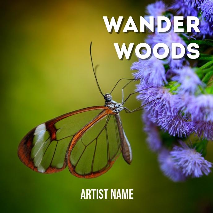 Wander woods album art template