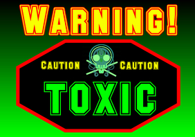 waning toxic sign caution a4