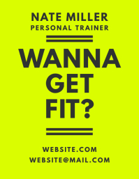 Wanna Get Fit Personal Trainer Green Flyer