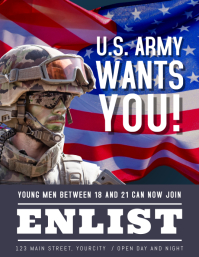Wanted Army Enlist Now Flyer