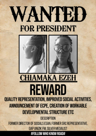 Wanted campaign poster A4 template