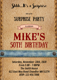 Wanted cowboy western party invitation