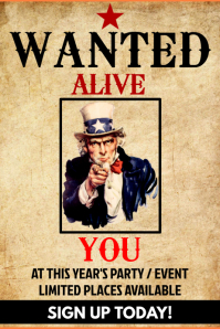 Wanted Event / Party Poster Template