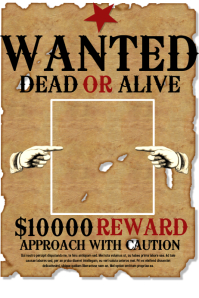 Wanted poster templates postermywall for Wanted dead or alive poster template free
