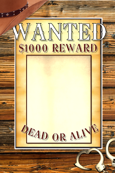 Wanted 海报 template