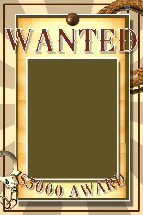 Wanted Affiche template