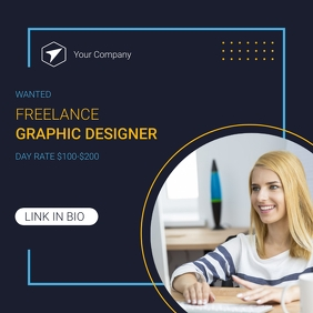 Wanted Freelance Instagram Post Template