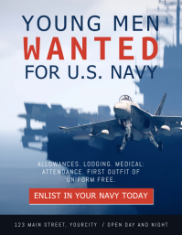 Wanted Men Navy Recruitment Flyer