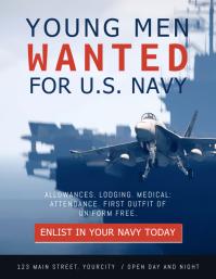 Wanted Men Navy Recruitment Flyer