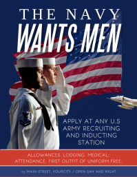 Wanted Navy Recruitment Flyer