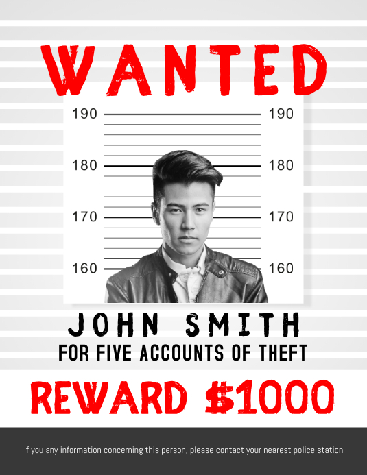 Wanted Person Flyer