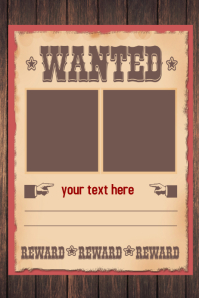 High Quality WANTED Poster Flyer · Wanted Poster Template