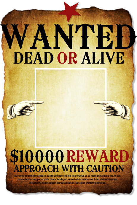 Wanted Póster template