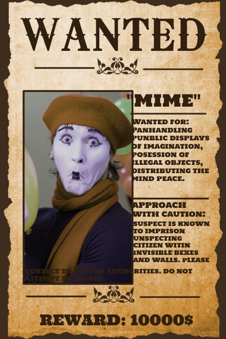 Wanted Poster Templates : PosterMyWall