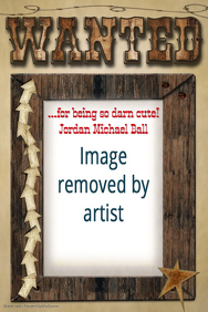 Wanted Poster Wooden Frame Poster Western Flyer