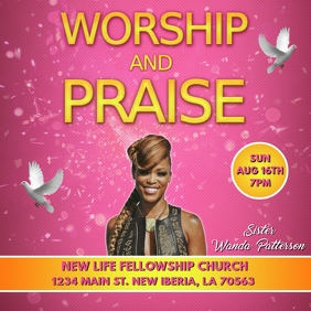 WAP WORSHIP AND PRAISE CHURCH FLYER TEMPLATE Album Cover