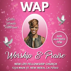 WAP WORSHIP AND PRAISE CHURCH FLYER TEMPLATE
