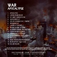 War Apocalypse Mixtape CD Cover Back Template Portada de Álbum