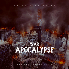 War Apocalypse Mixtape CD Cover Template