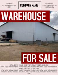 Warehouse for Sale Flyer Template Volante (Carta US)