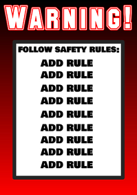 Warning ! follow safety rules