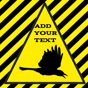 warning alert attention birds crow magpies