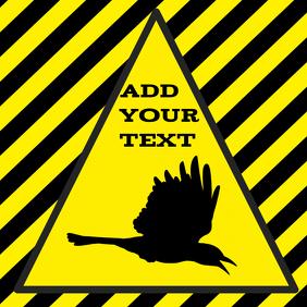 warning bird - template