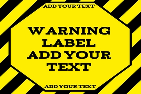warning label - attention or alert
