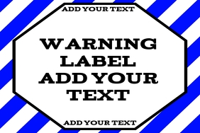 warning label blue - attention or alert