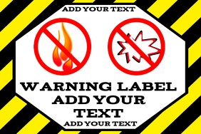 warning label - no open flame fire bang or bl