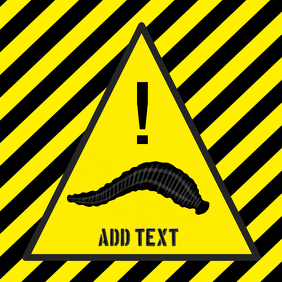 warning Leech - Leeches - yellow and black stripes