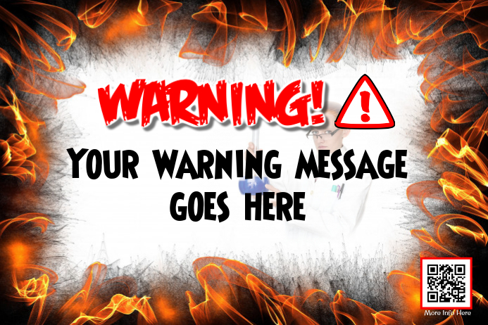 warning poster fully editable poster for door and wall template