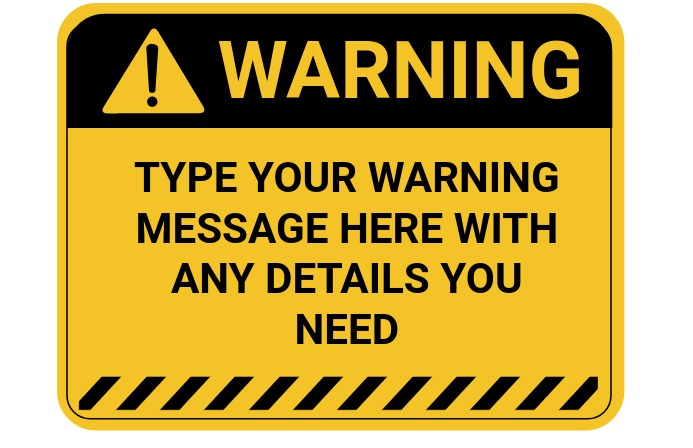 Warning sign 小报 template