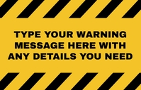Warning sign for any purpose Tabloid template