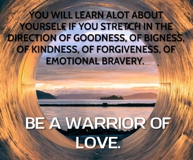 WARRIOR LOVE QUOTE TEMPLATE