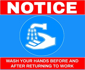 WASH HAND THAN GO TO WORK TEMPLATE Retângulo grande