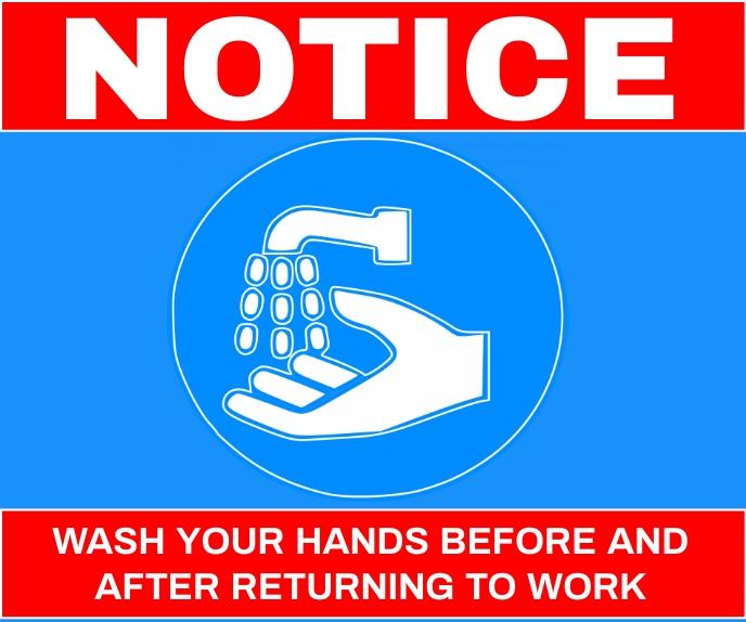 WASH HAND THAN GO TO WORK TEMPLATE Stort rektangel