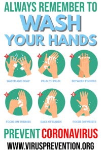 Wash Hands Coronavirus Prevention Template