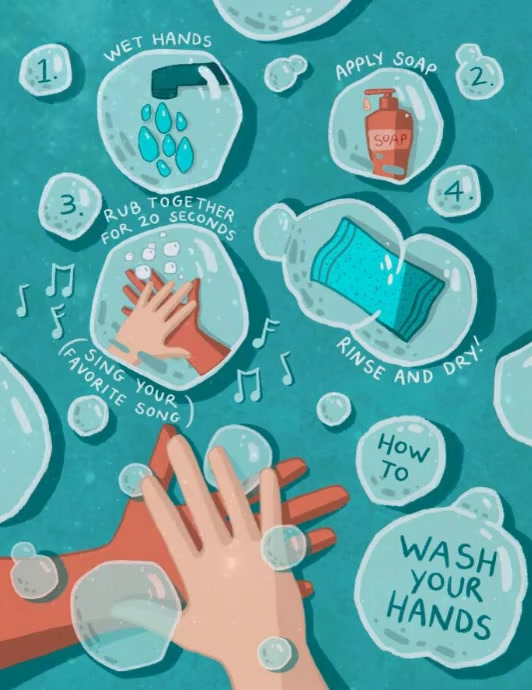 Wash Hands Flyer Template