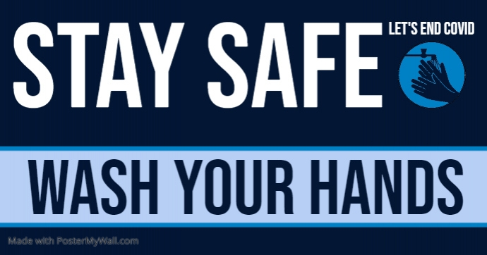 wash your hands Facebook Shared Image template
